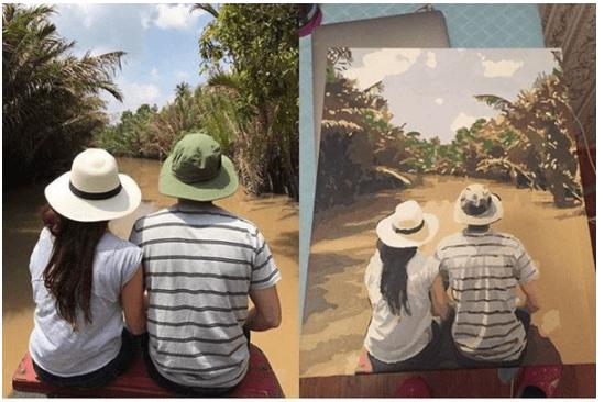Malen nach Zahlen eigenes Bild